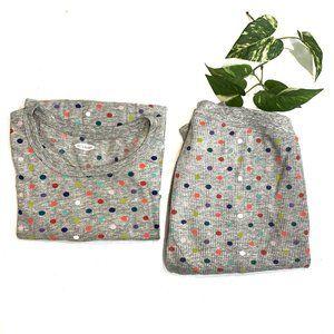 Old Navy Polka Dot Thermal Pajama Set Size M